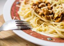 Salsa de los espaguetis y de la carne Fotos de archivo libres de regalías