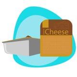 Salsa de queso en el paquete Foto de archivo libre de regalías