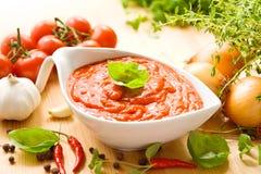 Salsa de tomate Fotografía de archivo