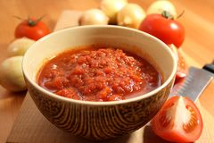 Salsa de tomate Fotos de archivo