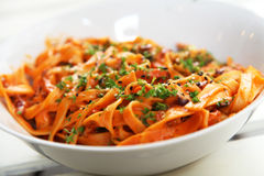 Salsa de tomate de las pastas Imagenes de archivo