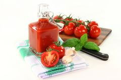 Salsa de tomate de tomate Imagen de archivo