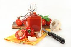 Salsa de tomate de tomate Fotografía de archivo libre de regalías