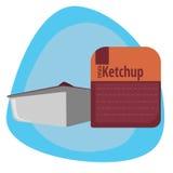 Salsa de tomate del embalaje de los alimentos de preparación rápida Foto de archivo libre de regalías