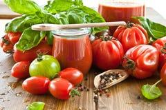 Salsa de tomate hecha en casa Fotografía de archivo