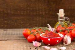 Salsa de tomate hecha en casa Imágenes de archivo libres de regalías