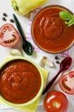 Salsa de tomate hecha en casa Fotos de archivo libres de regalías