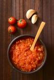 Salsa de tomate hecha en casa de Marinara o de Pomodoro fotos de archivo