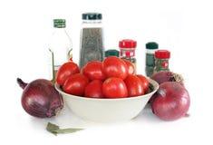 Salsa de tomate hecha en casa (en la fabricación) Imágenes de archivo libres de regalías