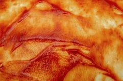 Salsa de tomate jugosa roja en la pasta para la comida de la pizza fotos de archivo