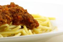 Salsa del espagueti y de la carne Foto de archivo libre de regalías