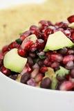 Salsa del fagiolo nero, del melograno e dell'avocado Immagini Stock