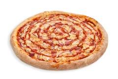 Salsa del tocino de la pizza Foto de archivo