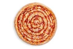Salsa del tocino de la pizza Fotografía de archivo