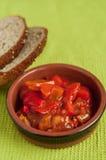Salsa del tomate y de paprika Foto de archivo