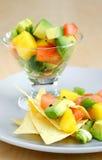 Salsa dell'avocado del mango fotografia stock libera da diritti