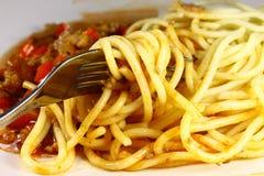 Salsa della carne di Spagetti Fotografie Stock