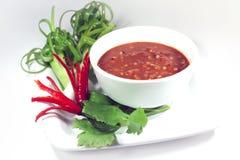 salsa della Gamberetto-pasta fotografie stock