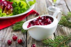 Salsa di mirtillo rosso Fotografie Stock