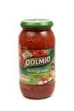 Salsa di pasta di Dolmio Immagine Stock Libera da Diritti