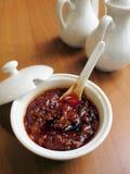 Salsa di peperoncino rosso di stile cinese Immagini Stock Libere da Diritti