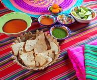 Salsa di peperoncino rosso messicana del habanero della sauces pico de Gallo Fotografie Stock Libere da Diritti