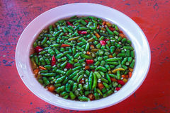 Salsa di pesce e dei peperoncini rossi Immagini Stock Libere da Diritti
