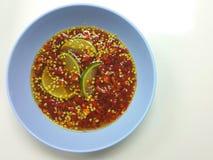 Salsa di pesce e del peperoncino rosso Immagini Stock