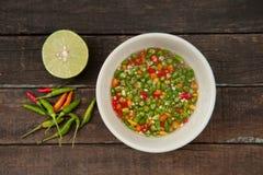 Salsa di pesce e del peperoncino rosso Fotografie Stock Libere da Diritti