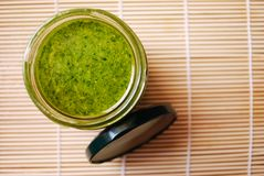 Salsa di Pesto Fotografie Stock