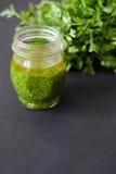 Salsa di Pesto Fotografia Stock