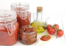 Salsa di pomodori immagini stock