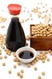 Salsa di soia Fotografie Stock