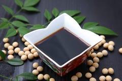 Salsa di soia Fotografia Stock