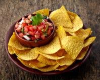 Salsa dip stock image