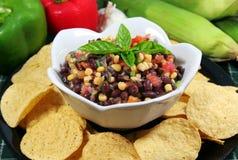 Salsa do feijão preto e do milho Fotografia de Stock