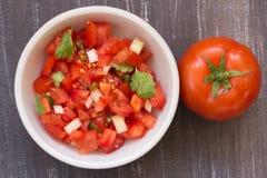 Salsa do tomate fotos de stock royalty free