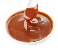 Salsa dulce del caramelo fotos de archivo