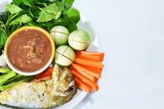 Salsa e verdura tailandesi della spezia Immagine Stock