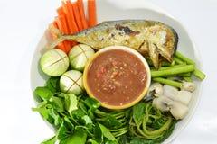 Salsa e verdura tailandesi della spezia Fotografia Stock Libera da Diritti