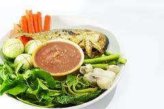 Salsa e verdura tailandesi della spezia Fotografie Stock Libere da Diritti