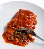salsa enchilada βόειου κρέατος πικάντ&io στοκ εικόνα με δικαίωμα ελεύθερης χρήσης