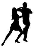 salsa för 6 dansare Arkivfoto
