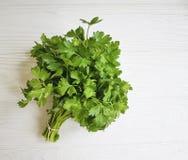 a salsa fresca ajunta orgânico natural de tempero em um fundo de madeira branco Fotografia de Stock Royalty Free