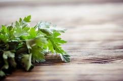 Salsa fresca no fundo de madeira Fotografia de Stock