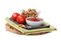 Salsa georgiana con los tomates y las nueces Fotos de archivo