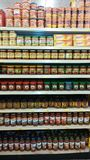 Salsa grocery store Stock Images
