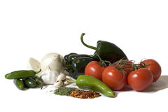 Salsa Ingredients Stock Photo