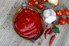 Salsa ketchup Fotografia Stock