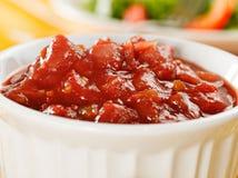 Salsa macro stock photo